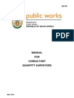 Manual for Quantity Surveyors