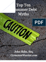 Top Ten Consumer Debt Myths