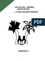 Quarter 8 Report