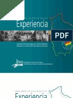 """Experiencia """"Marcando un Hito en Bolivia"""" - Ipas Bolivia"""