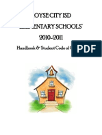 Student Handbook Elementary