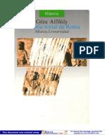 Alfoldy Geza - Historia Social de Roma