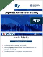 E-Verify Corp Admin Training
