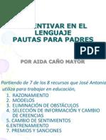 Incentivar en El Lenguaje