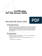 Digital Certificates for ISA Server 2004