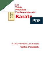 Los Veinte Principios Fundamentales del Karate By Gichin Funakoshi. Traducido por leopoldo Muñoz Orozco