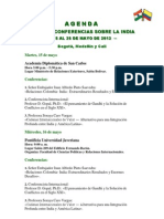 Agenda Final Ciclo de Conferencias Sobre La India