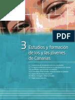 Estudios y formación de los y las jóvenes de Canarias