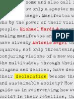 Hardt, Michael & Antonio Negri - Declaration (2012)