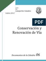 Conservacion y Renovacion de Vias