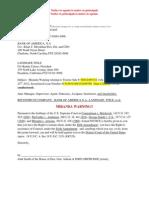 Miranda Warning, Recontrust, foreclosure, trustee sale