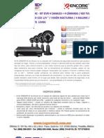 CCTV Encore ENXDVR4C Kit Dvr + 4 Camaras