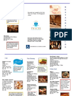Brochure for Resturant Guide