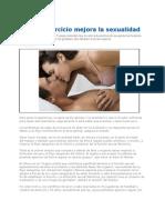 Hacer Ejercicio Mejora La Sexual Id Ad 2012