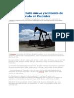 Hallan Nuevo Yacimiento de Crudo en Colombia 2012