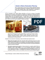 Project Managers Guide to Railcar Restoration 8-09
