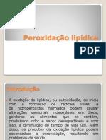 Peroxidação lipídica
