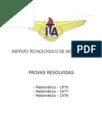 ITA 1976.1977.1978 - Matemática