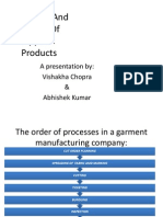 Spreading and Cutting of Apparel Products