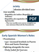 IB History of the Americas 1- Colonial Latin American Society Notes p. 59-62