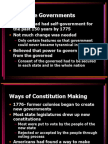 Chapter 5-Early State Constitutions
