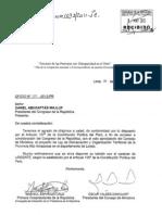 Proyecto de Ley de Demarcación y Organización Territorial de la Provincia Alto Amazonas (N° 1093/2011-PE).