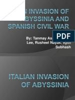 Chapter 15-Italian Invasion of Abyssinia (Tanmay, William, Rusheel, Ajith)