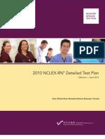 2010 NCLEX RN Detailed Test Plan Educator