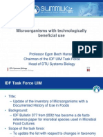 Prof Egon Bech Hansen QPS IDF List Safety Food Microorganisms 11 Slides