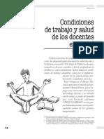 Condiciones de Trabajo y Salud de Los Docentes en Chile. Manuel Parra.