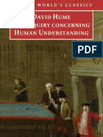 HUME, David. an Enquiry Concerning Human Understanding