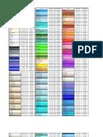 Tableta de Colores Java-HTML