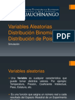 Variables Aleatorias Distribucion Binomial y Poisson