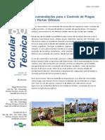 Recomendações para o Controle de Pragas em Hortas Urbanas