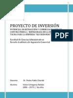 Potencial de Extracción y Comercialización de corvina fresca en la Región Tacna para la Empresa Ojo Redondo S.A.