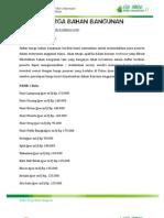 Daftar Harga Bahan Bangunan