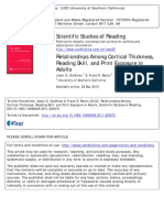 Relation Between CT and Reading Skills