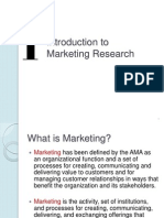 Chapter 1 - Introduction to Marketing Research