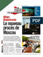 LibÇration 28 dÇcembre 2010 first four pages