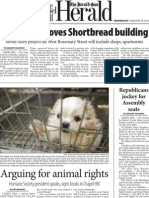 The Herald-Sun- Arguing for Animals- Page 1- Wed Feb 29- Chapel Hill
