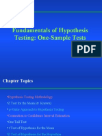 SI- Hypothesis Testing FIS