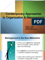 Contingency, TQM, Learning ORg Report