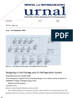 Designing a Cold Storage and It's Refrigeration System - Issue July-September 2005