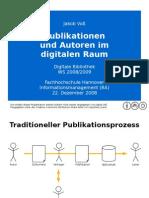 Autoren und Publikationen im Digitalen Raum