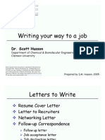 Writing Your Way to Job