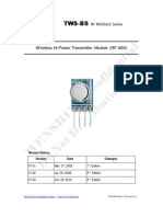 TWS-BS-3 433.92MHz ASK RF Transmitter Module Data Sheet