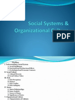 Social Systems & Organizational Culture