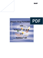 Generic Drug Formulations With Kollicoat and Kollidon