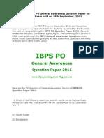 IBPS_PO_GA_Paper_2011