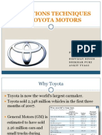Operations Techniques of Toyota Motors